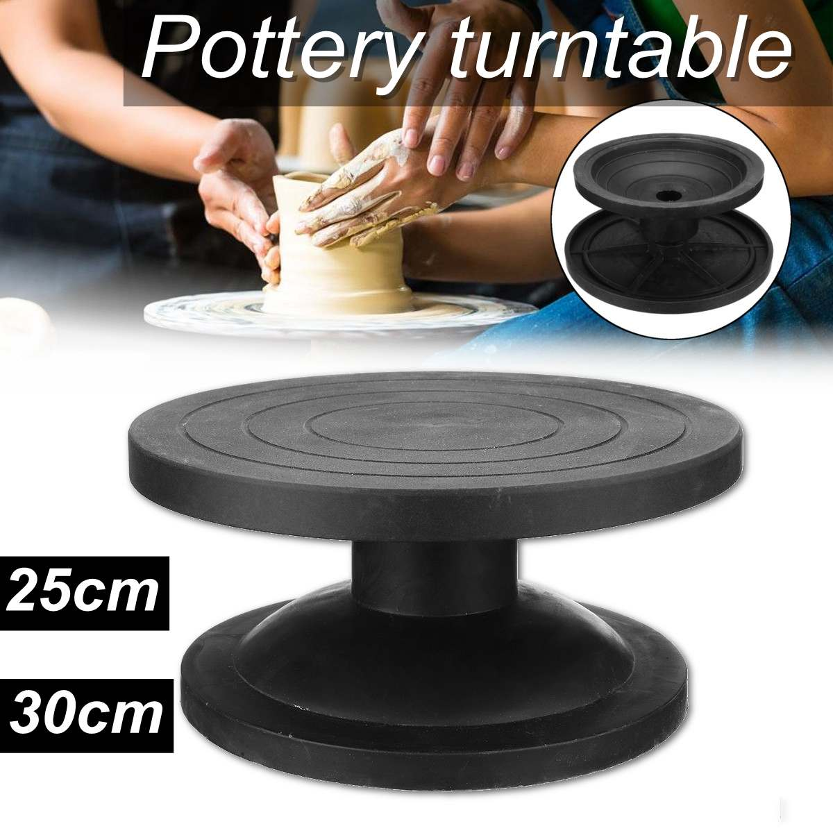 25/30CM Metal Pottery Banding Wheel Turntable Turnplate Clay Sculpture Modelling
