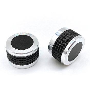 2 sztuk D osi pokrętło głośności samochodu moc Aplifer pokrętło głośności s przełącznik potencjometru czapki 20 23 26x13mm pół wału śliwka wału tanie i dobre opinie Aluminium alloy