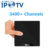 W95 Android IPTV EVDTV Arabic UK USA IT FR DE Spain Egypt Greece Scardinavia Iran Portugal Channels Code Adult Smart Set Top Box(China)