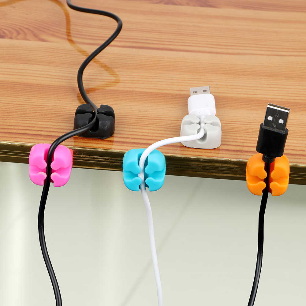 Car Cord Charger Line Clamp Auto Wire Holder Cable Organizer Storage for Earphone USB Cable Cable Data Line Clips Tie Fixer