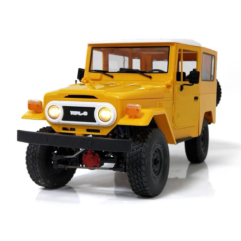 RCtown C34KM WPL 1/16 Edição de Metal Kit 2CH 4WD 2.4G Crawler Off Road de Buggy RC Carro Modelos de Veículos Com cabeça de Luz