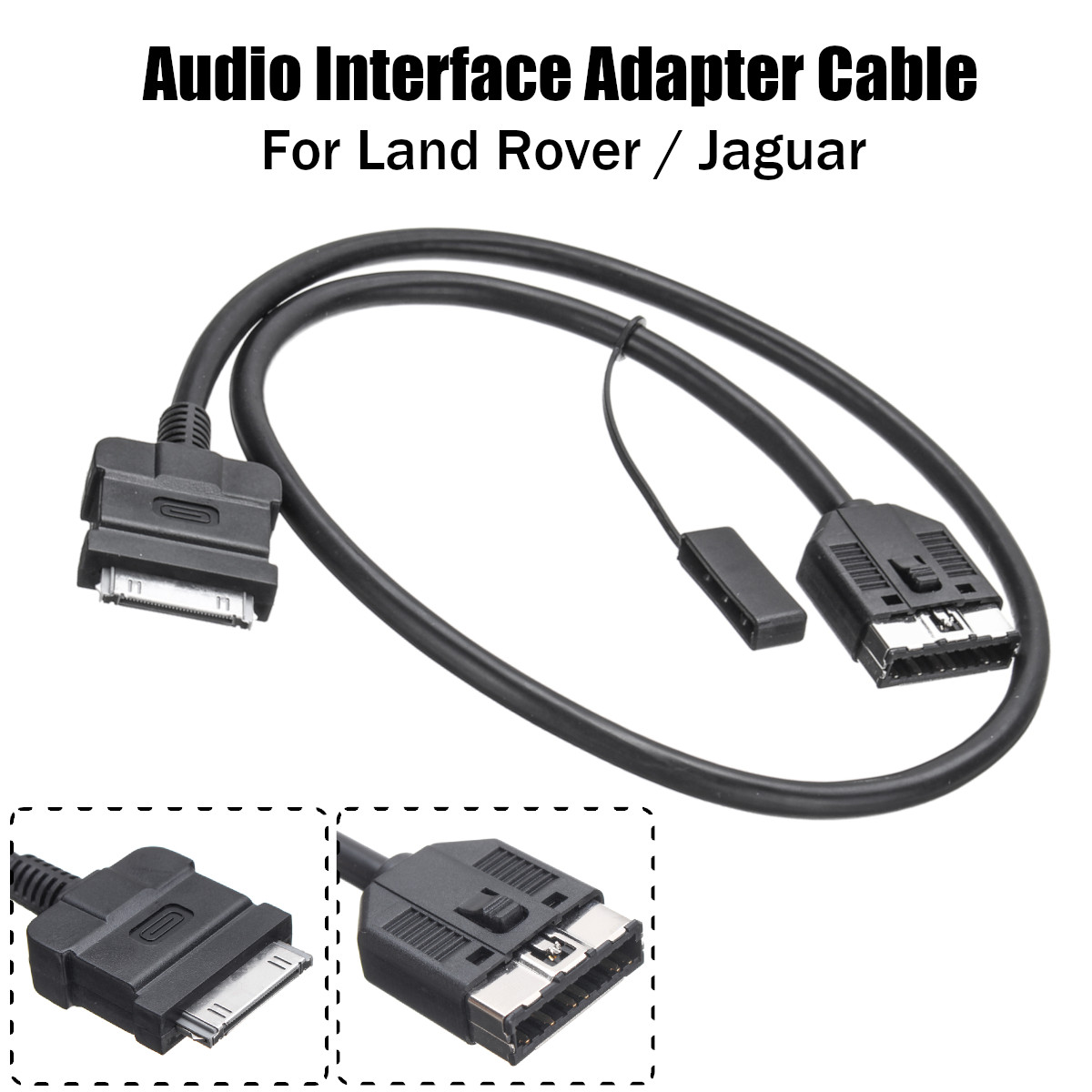 Music Audio Interface Adapter Cable for Range Rover Sport 2010-2011 Connect to iPhone iPod iPad