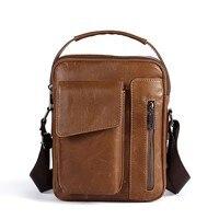 New Fashion Business Shoulder Bag Men Genuine Leather Crossbody Bag Men Satchel Bags For Men Vintage Messenger Bags Bolso Hombre