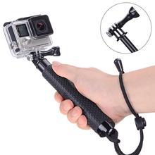 цена на 19'' Waterproof Hand Grip Adjustable Selfie Stick Handheld Monopod For GeekPro For GoPro HD Hero 7 6 5 4 3+ 3 2 1 For Xiaomi Yi