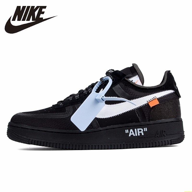 Nike Air Force 1 blanc cassé Ow conjointement hommes chaussures de skate nouveauté loisirs loisirs sport baskets # AO4606-001
