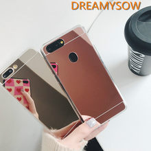 Mirror Effect Case For Huawei P30 Mate20 Lite case on Honor 8A 8X 8C 7A Pro 8 Lite Nova 3 3i 3E Y9 P Smart 2019 soft TPU Cover(China)