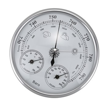 Wall Mounted Household Thermometer Hygrometer High Accuracy Pressure Gauge Air Weather Instrument Barometer