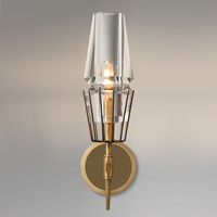 Свадебный светодио дный светодиодный Золотой Хрустальный настенный светильник светодио дный Wandlamp Post современный светодио дный светодиодн