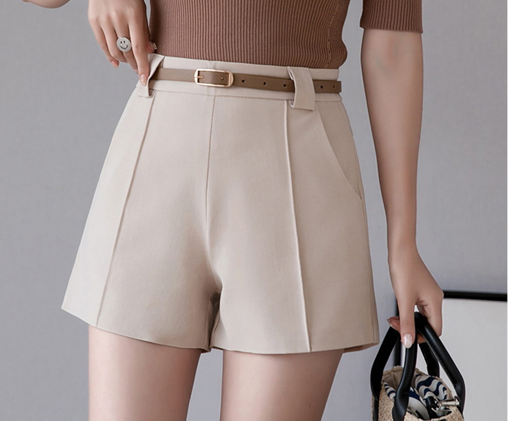 Spring and summer new style Korean version of wild fashion shorts Loose high waist suit casual shorts Price $25.88