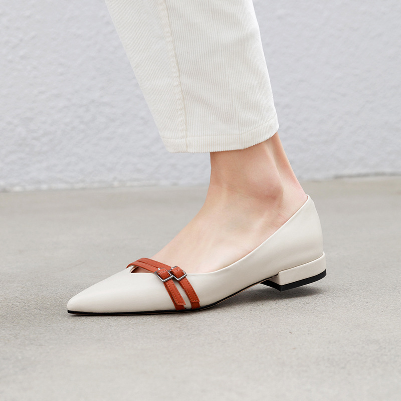 2019 Spring Women Flat Shoes For Casual Shallow Mixed Color Slip on Ladies Shoe Pointed toe Fashion with Skirt PU Leather2019 Spring Women Flat Shoes For Casual Shallow Mixed Color Slip on Ladies Shoe Pointed toe Fashion with Skirt PU Leather