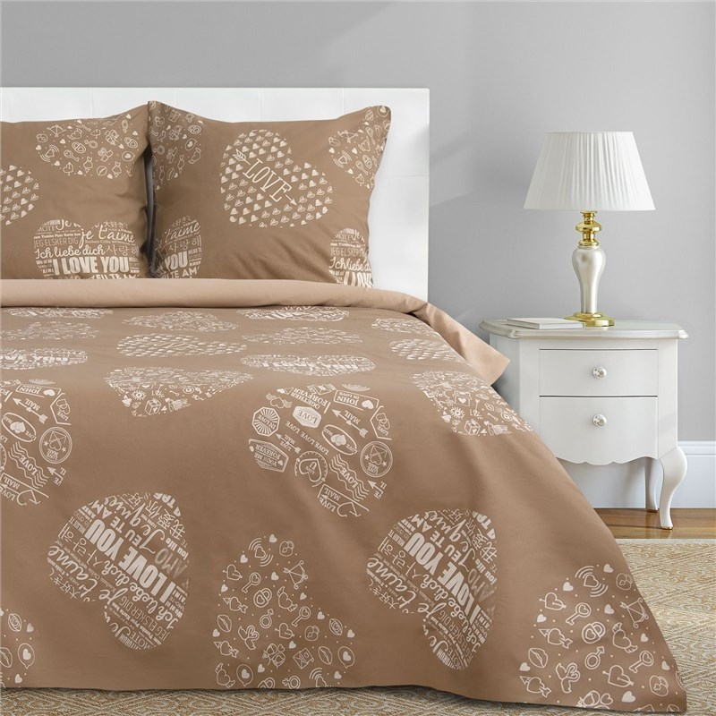 Bed Linen Ethel Euro Te amo (Type 3) 200x217 cm, 220x240 cm, 70x70-2 pcs, calico calico print crochet back mix