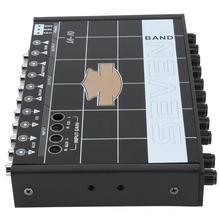 1 шт автомобильные аудио стерео эквалайзер с 7 авто аксессуары для автомобильного аудио эквалайзер