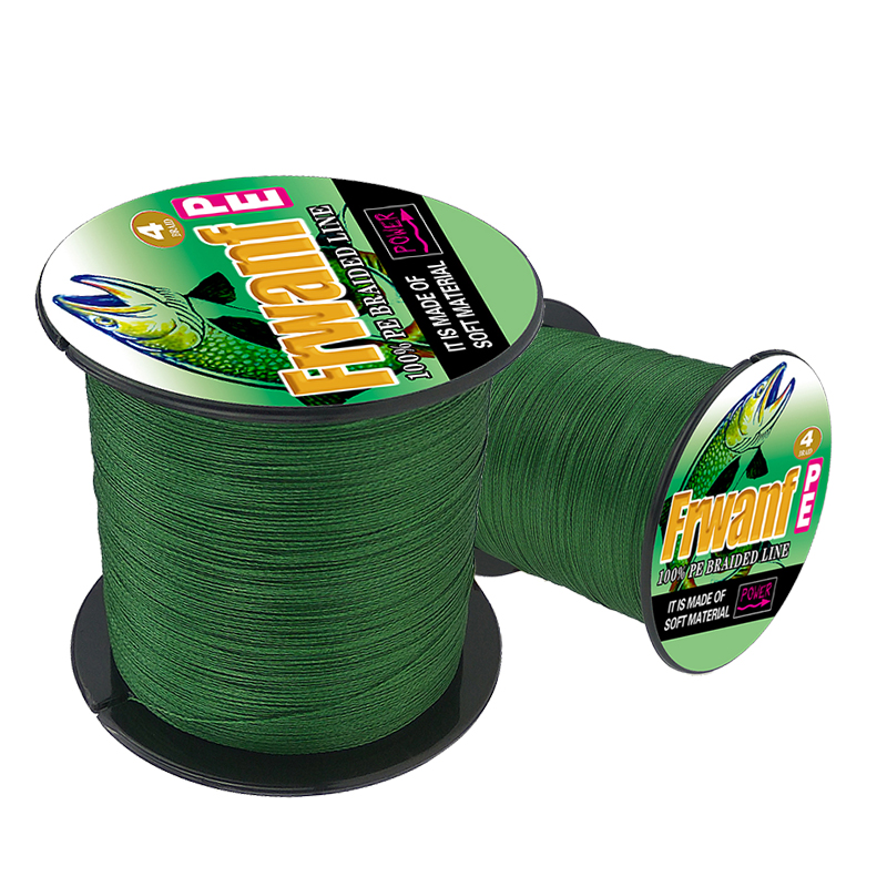 Frwanf 10Lb 4 Braid Braided Fishing Line 500M Super Strong Multifilament Thread 4 Strand Essays Rope For Fishing Carp image