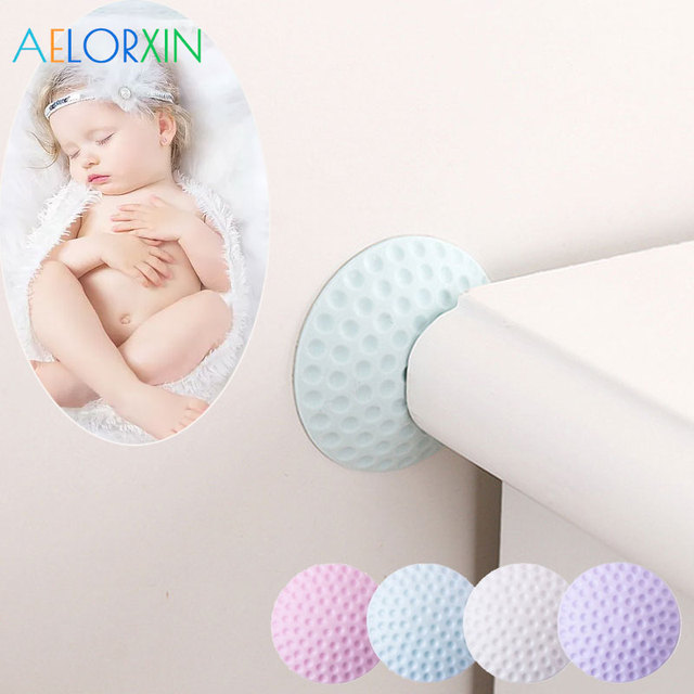 4Pcs/Lot Crash Pad Protection Baby Child Safety Shock Absorbers Security Card Door Stop Child Lock  Child Protection Kids Safety