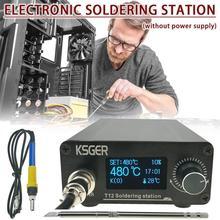 KSGER T12 V3.0 STM32 Löten Station OLED Digitale Solder Eisen Entlötstation Eisen Stangen Elektrokauter Gerät
