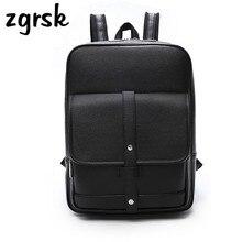 Backpacks For Men Bags PU Leather Mens Shoulder Fashion Business Casual School Boys Vintage Backpack