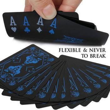 Wodoodporne pcv z tworzywa sztucznego talia kart do gry Trend 55 sztuk Deck gry Poker klasyczne magiczne sztuczki czarny z motywem wilka magiczne karty do pokera tanie i dobre opinie 14 lat Nieograniczona 0-30 minut Kategoria zwierząt Pokrywa karty Podstawowym Normalne Poker Card None Wolf Print Black Poker Card
