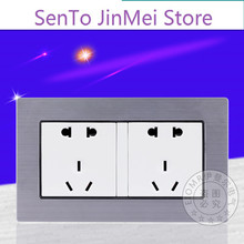 146 Type Five Socket Wall 7 Household Dark Outfit Ten Eyelet Pairs Five Hole Socket Panel Two Position Five Hole Socket Panel