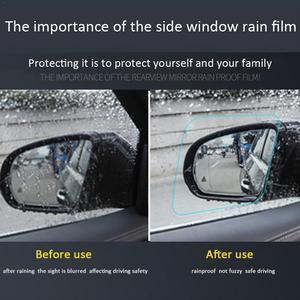 Image 4 - 한 쌍의 자동차 백미러 방수 및 안티 안개 비 증거 필름 사이드 창 유리 필름 다양한 크기 사양