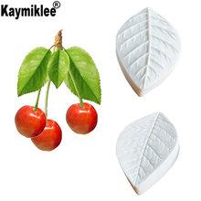 Вишневый лист плесень впечатление листьев формы силиконовые