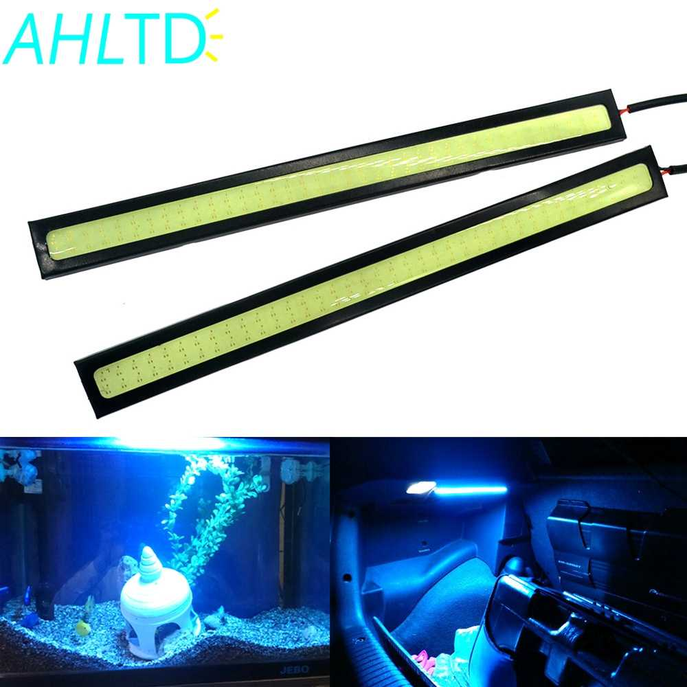 2Pcs 17cm 2Row Led COB Bright Universal DRL LED Daytime Running Lights Car Lamp External Lights Auto Waterproof Car Styling Lamp