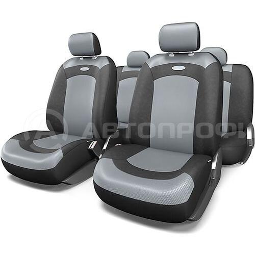 Cushion Cover Автопрофи XTR-803 BK/GY-80 (M) EXTREME, velour + сетч. Fabric, 8 предм... 3 zipper, чёрн./gray braid автопрофи sam 200 gy 80 m genuine leather thread needle gray