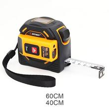 2 In 1 Tape Measure 5M Measuring Instrument LCD Digital Display Handheld Infrared 60M 40M Electronic Ruler