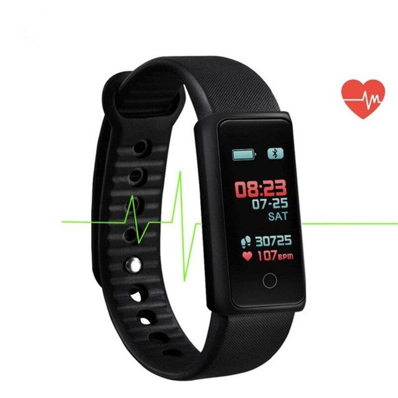 Brazaletes inteligentes pantalla a Color Banda corazón Monitor de oxígeno Smart Monitor de presión Arterial de deportes Fitness pulsera