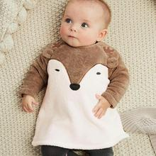 JOCESTYLE Newborn Baby Boy Girls Cartoon Fox Coat Fleece