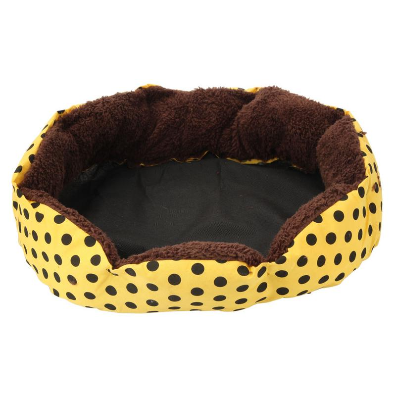 Pet Octagonal Dot Soft Cushion Bed Easy To Clean Dog