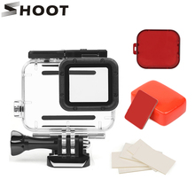 SHOOT 45M Waterproof Case Set for GoPro Hero 7 6 5 Black Sports Camera Surfing Diving Accessory For Go Pro Hero 7 6 5 Action Cam lanbeika for gopro hero 6 5 touchbackdoor diving waterproof housing case 45m for gopro hero 6 5 go pro5 gopro6 gopro hero6