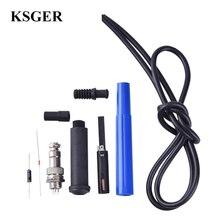 KSGER T12 9501 Griff Kits Löten Station Solder Eisen Tipps 24 V Schweißen STM32 OLED Reparatur Werkzeuge Silikon Kabel Draht GX12-5