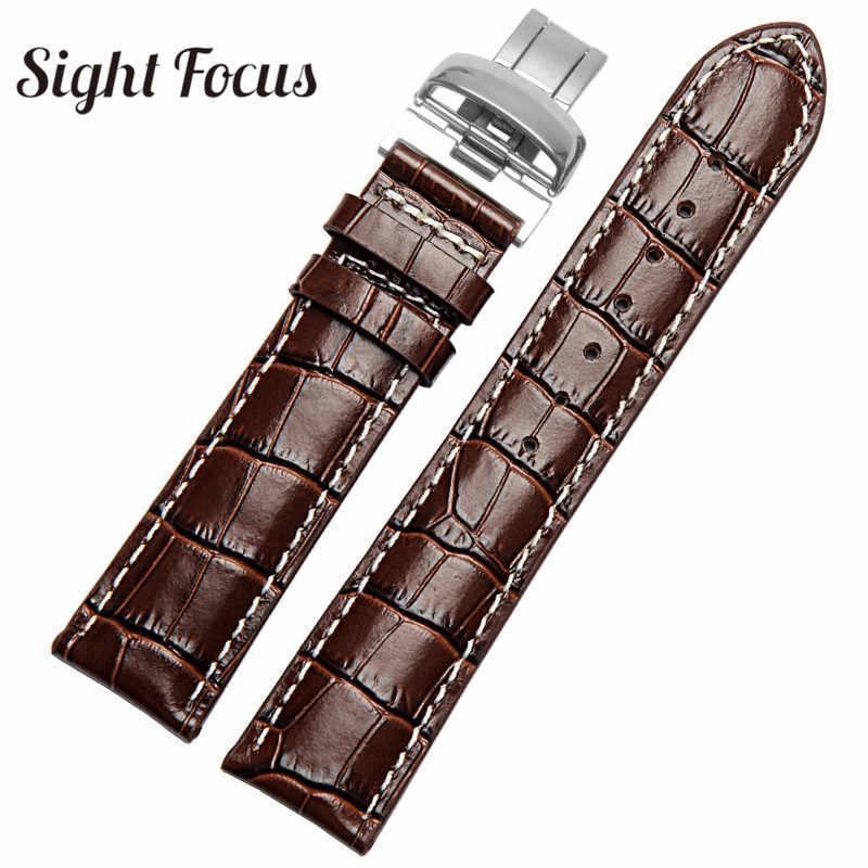 19 Mm 20 Mm Watch Band untuk Tissot Watch Kulit Tali Pria 1853 Le Locle PRC200 PR100 T065 Leather Belt pria Pergelangan Tangan Gelang Montre