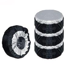 Tire Cover Case Car Spare Tire Cover Storage Bags Carry Tote Polyester Tire For Cars Wheel Protection Covers 4 Season