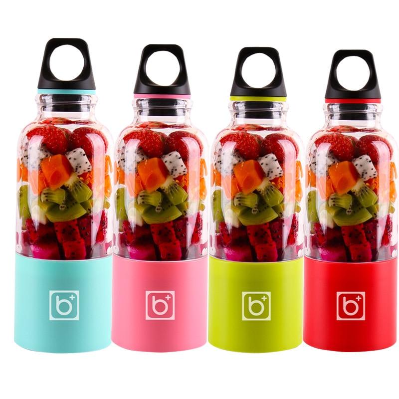 500ml 4 Blade Portable Blender Juicer Machine Mixer Electric Mini Usb Food Processor  Juicer Smoothie Blender Cup Maker Juice