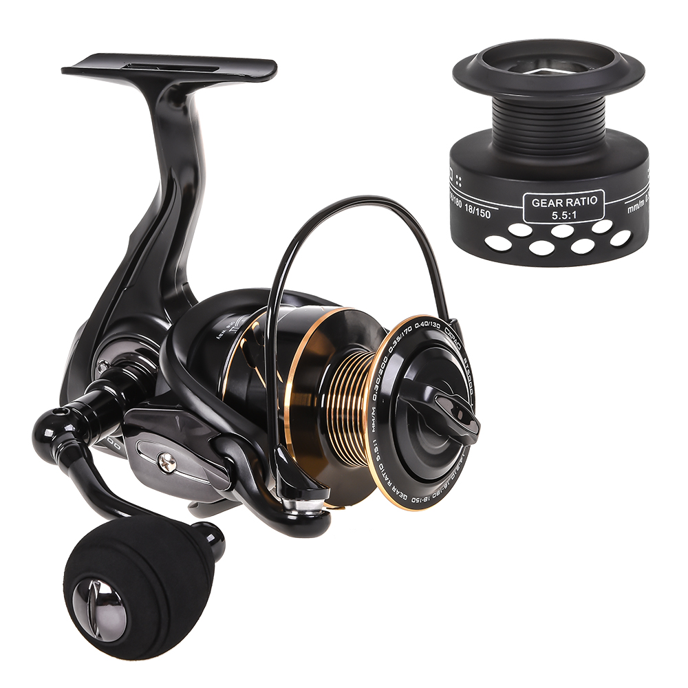 5 Ball Bearing Portable Metal Spinning Fishing Reels Saltwater Fishing Tackle