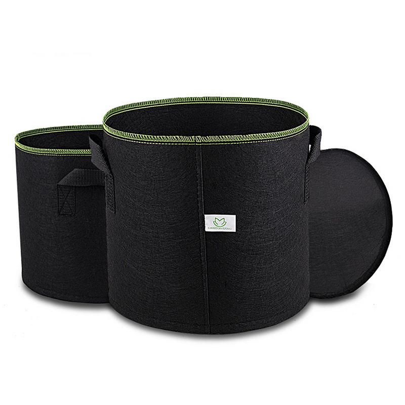 5 7 Smart Pots w Handles 3 10 15 gallons Fabric Grow Pots Smart Bags Garden