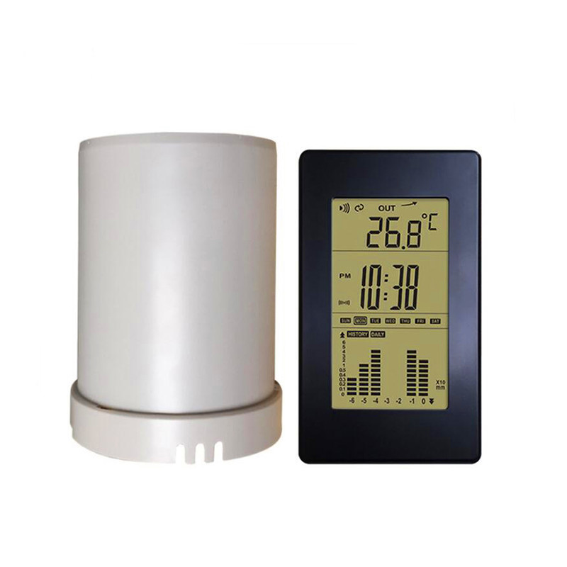 Automatic Digital Displa In Outdoor Temperature Weather Station Rainfall Statistics Recorder Wireless Rain Gauge New