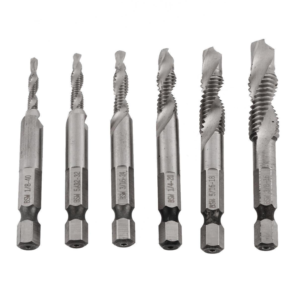 Metalworking Countersink Deburr Set Hex Shank Drill Tap Metric Combination Bits