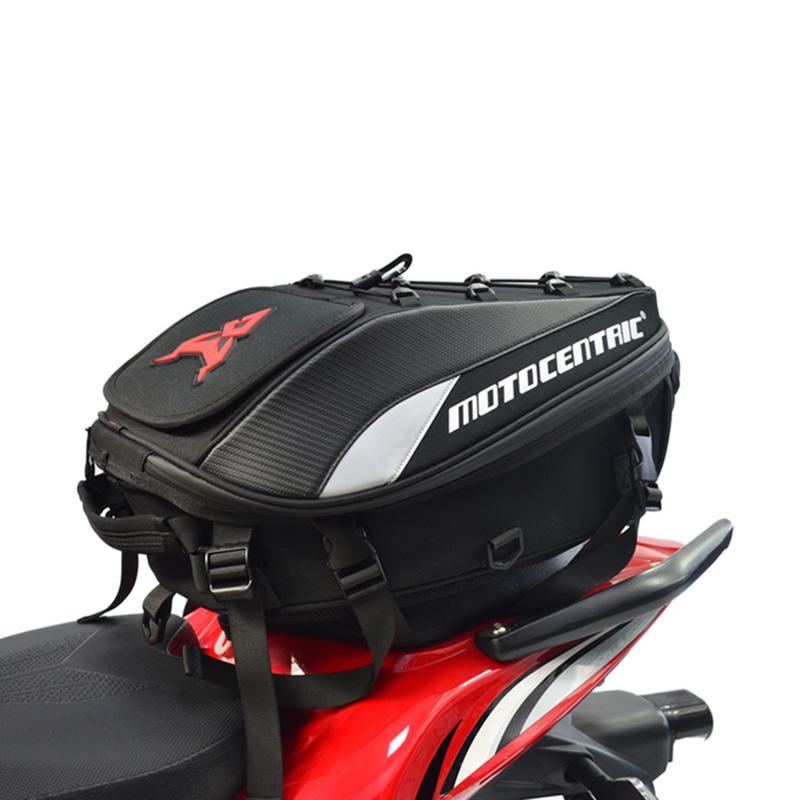 Nuevo resistente al agua de cola bolso Multi-funcional resistente trasera del asiento de la motocicleta de alta capacidad de la motocicleta jinete mochila