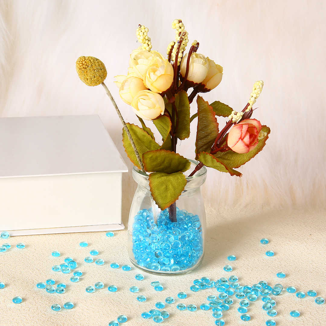 50g/Set Plastic Slime Bead 7mm Tiny Fishbowl Beads Acrylic Vase Fish Bowl Fillers Children DIY Craft Accessories Novelty Toys