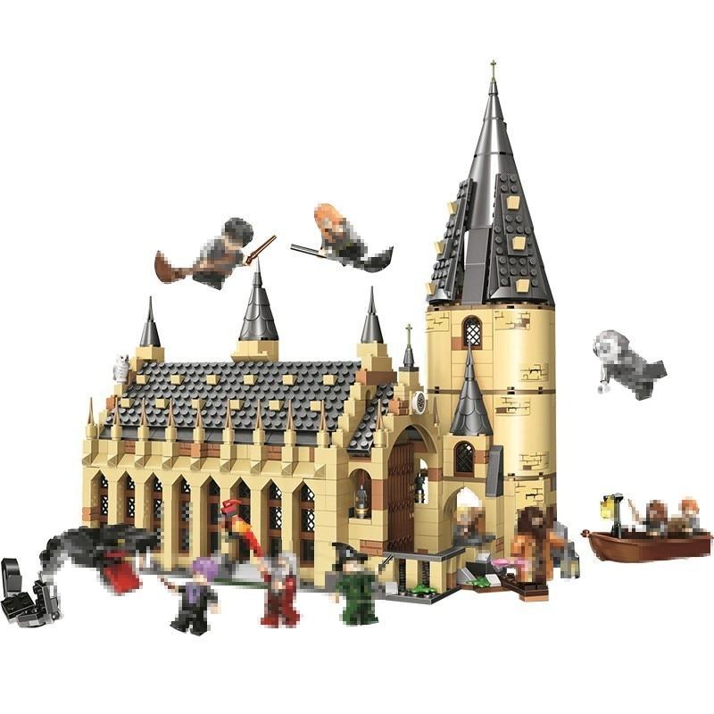Harri Potter 11007 poudlard grande muraille ensemble modèle bâtiment maison enfants jouet pour cadeau de noël livraison directe Compatible Lming 983 pièces