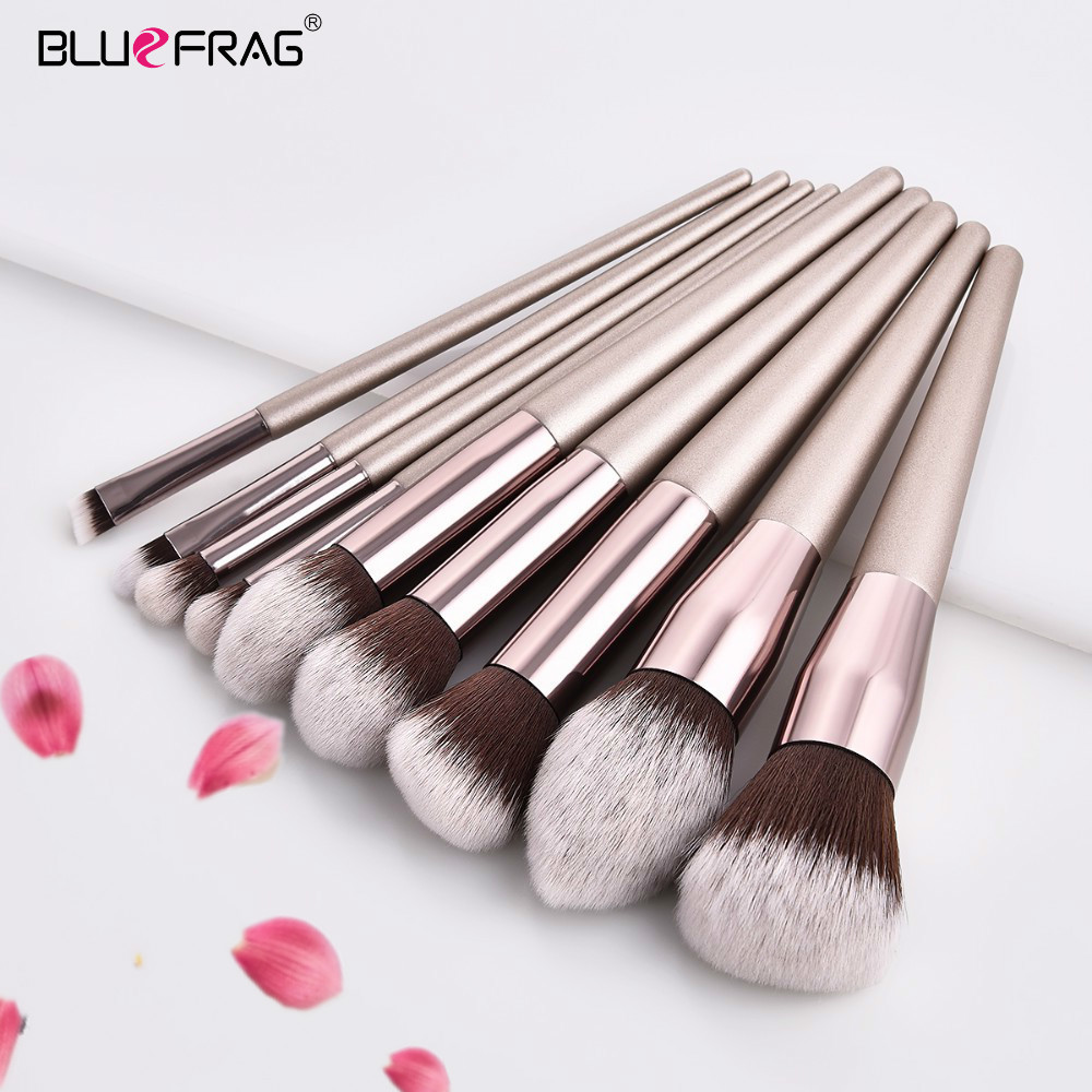 BLUEFRAG Pro Makeup Brushes big brush face makeup brushes set professional cheap makeup brush cosmetic set make up Tool Kits professional luxury makeup brushes set champagne makeup brushes cosmetic brush beauty maker pinceis maquiagem makeup tool bag