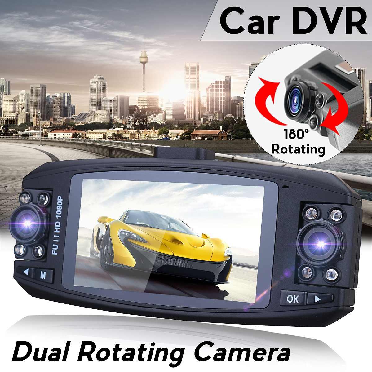 FHD 1080P Dual Lens Auto Car DVR Camera Rotating Dash Cam Vehicle Video Recorder Camera Mirror G Sensor CamcorderFHD 1080P Dual Lens Auto Car DVR Camera Rotating Dash Cam Vehicle Video Recorder Camera Mirror G Sensor Camcorder