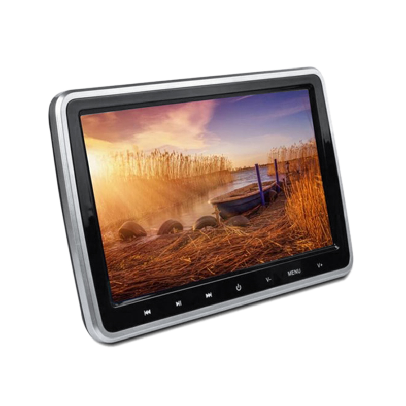 10 pouces numérique Tft Lcd écran Auto voiture appui-tête moniteur Usb/Sd lecteur Dvd intégré Ir/Fm/haut-parleur avec disque de jeu Hdmi à distance C