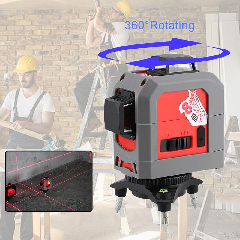 Здесь можно купить   3D 12Lines Laser Level Red Line Laser Level Meter Self-Leveling 360 Horizontal Vertical Cross Red Beam Nivel Leveling Tool  Инструменты