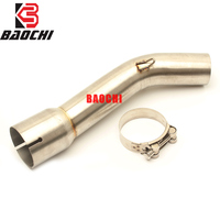 Motorcycle Exhaust Connect Link Pipe Adapter Middle Tube for Yamaha FZ1 FZ1N FZ1000 2006 2007 2008 2009 2010 2011 2012 2013 2015 Exhaust & Exhaust Systems    -