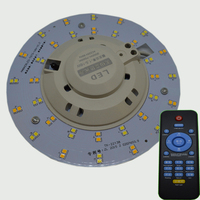LED PCB 10W 35W 50W Round Intelligent Remote Control Dimming Ceiling Light Source Light Board Dimmable Driverless AC 175 265V