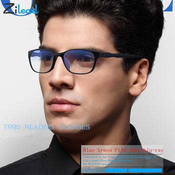 Zilead Fashion Anti Blue Rays okulary do czytania mężczyźni kobiety okulary do czytania TR90 Materia Ultralight rodzice okulary do czytania tanie i dobre opinie Unisex WOMEN Jasne Fotochromowe YJ0534 Z tworzywa sztucznego 5 9cm