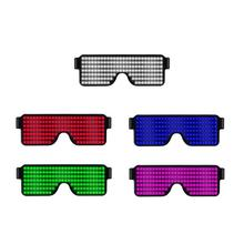 New 8 Modes Quick Flash Luminous Glasses USB Rechargeable LED Party Christmas Concert Light Toys Red Blue Green